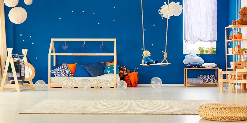 Blaue Farbtöne im Kinderzimmer